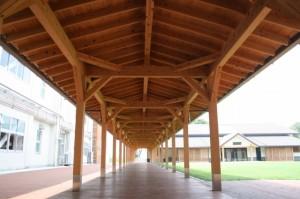 早島中学校 渡り廊下